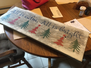 Avon 39 - All Is Calm, All is Bright Finished Sign