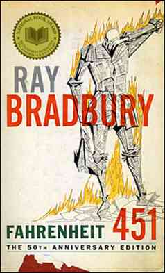 Fahrenheit 451 by Ray Bradbury - Book Cover